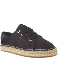 Espadryle Tommy Hilfiger METALLIC LACE UP ESPADRILLE FW0FW02218-403 MIDNIGHT