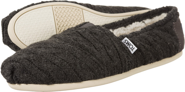 TOMS Cable Knit Shearling Womens Alpargata 929 10008929
