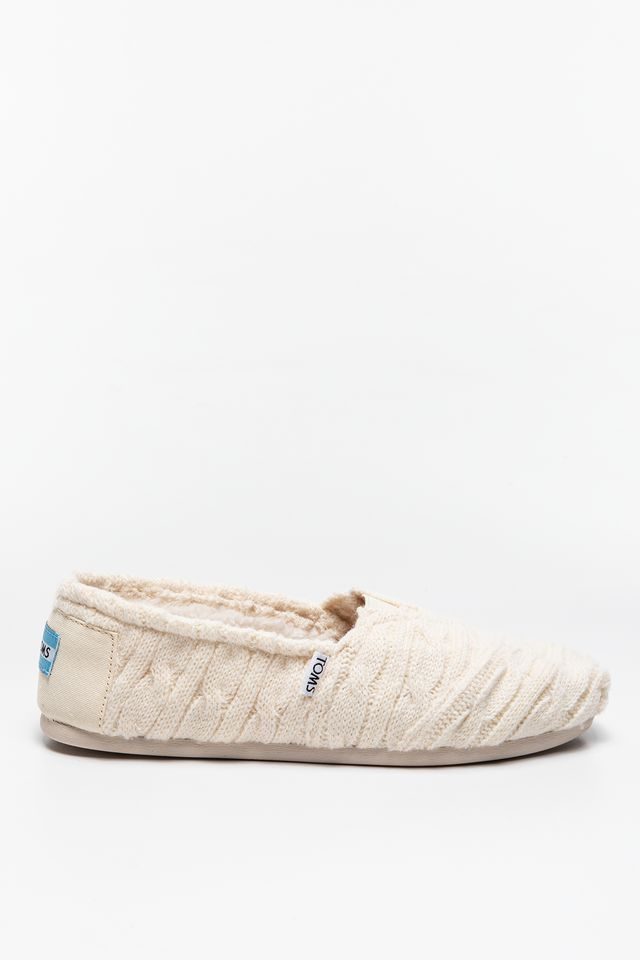 TOMS Cable Knit Shearling Womens Alpargata 943 10008943