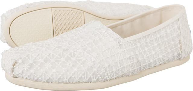 TOMS Crochet Lace Womens Alpargata 9633 10009733