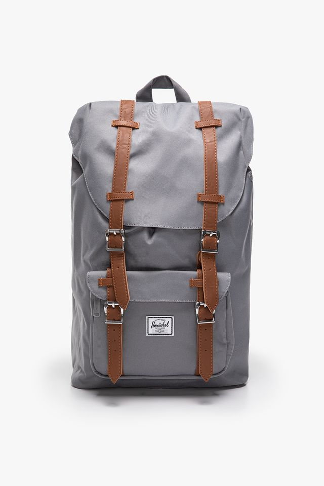 GREY TAN Plecak 17 L Herschel Little America Mid-Volume  Synthetic Leather 10020-00006