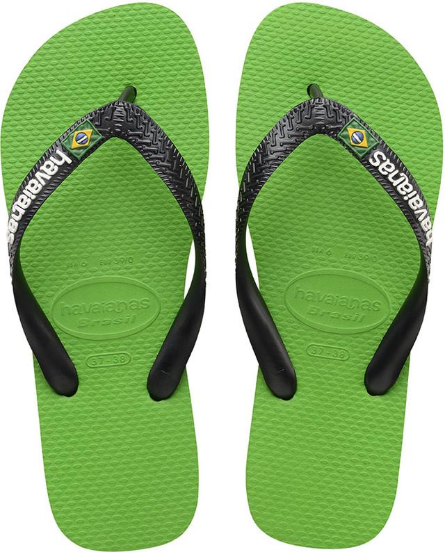 Havaianas BRASIL LOGO NEON GREEN/BLACK H41108506775