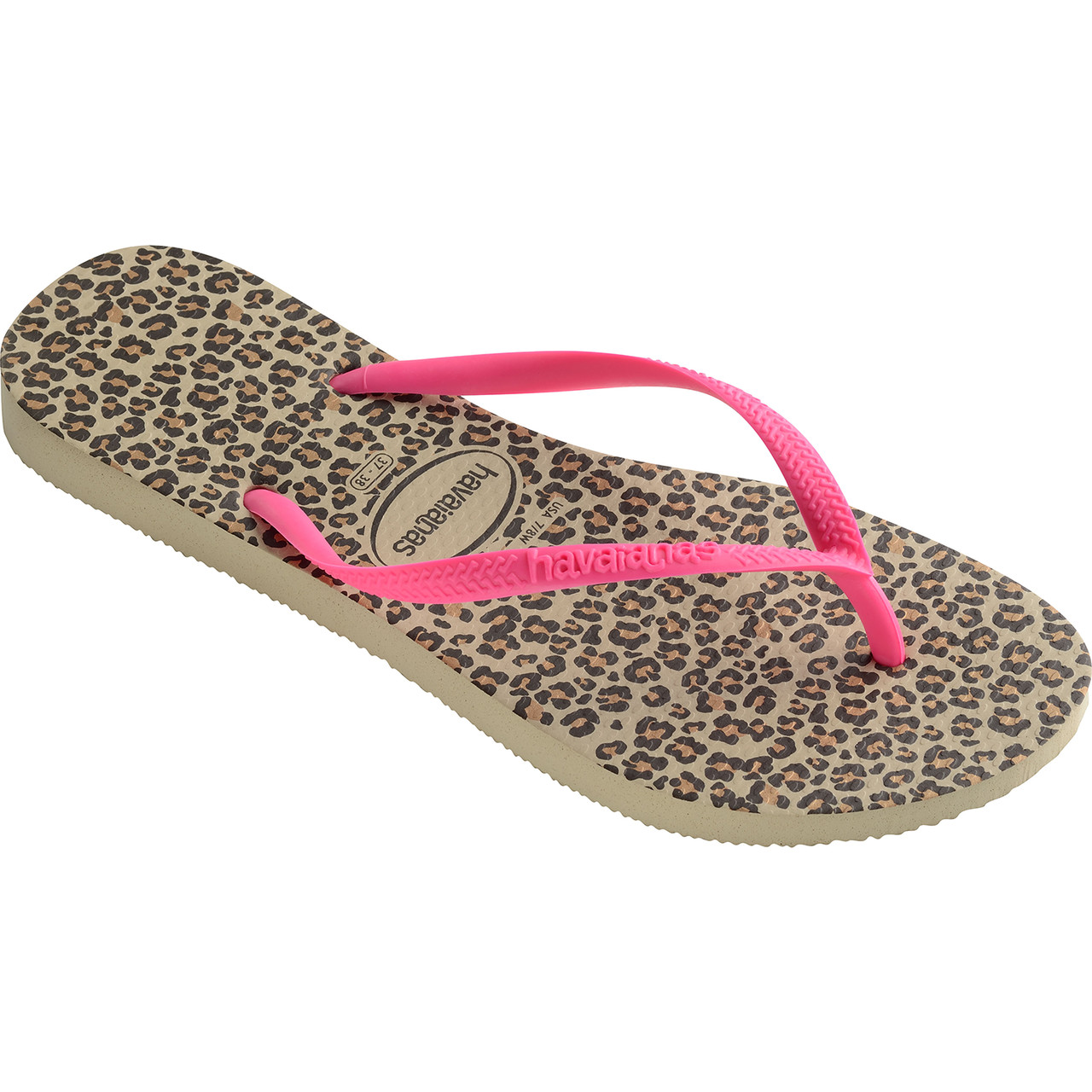 Japonki Havaianas  <br/><small>Slim Animals Sand Grey/Pink </small>  H41033525538