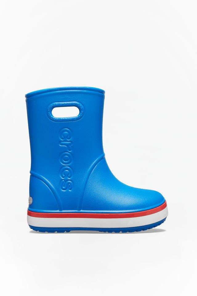 BRIGHT COBALT/FLAME CROCBAND RAIN BOOT KIDS 827