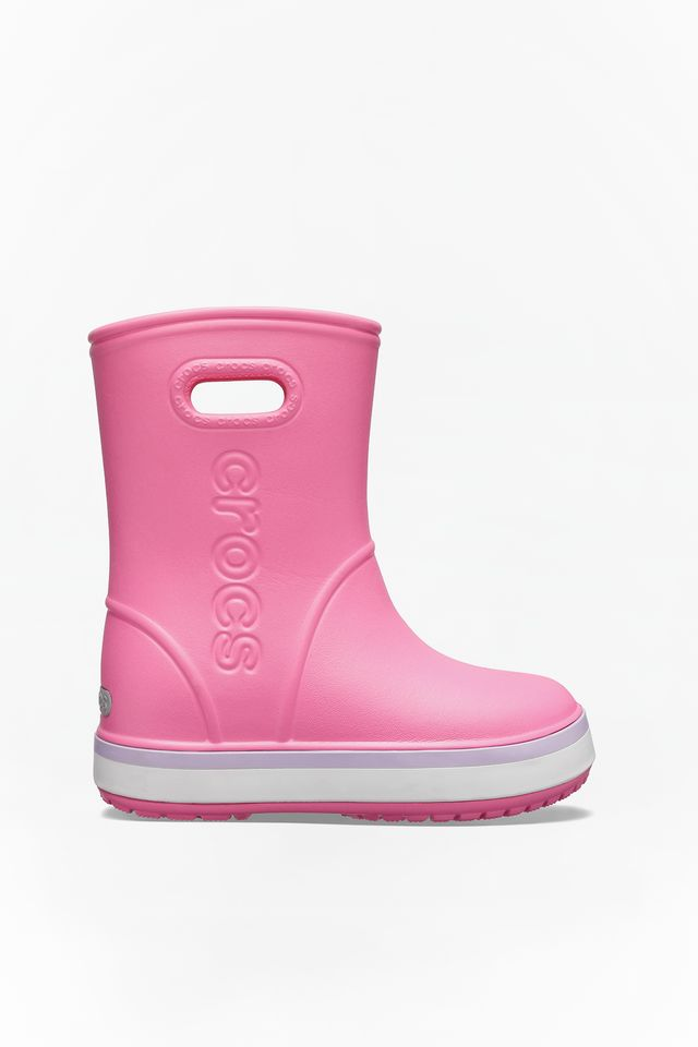 LEMONADE/LAVENDER CROCBAND RAIN BOOT KIDS 205827 PINK