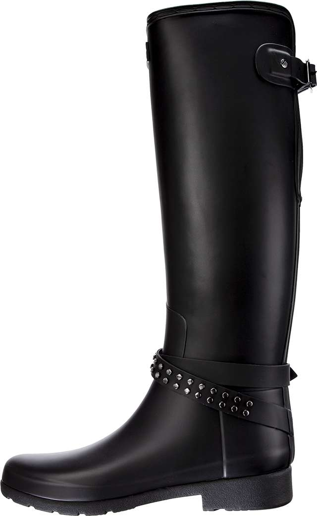 Kalosze Hunter  <br/><small>WOMEN'S ORIGINAL STUDDED REFINED TALL BLACK </small>  WFT2003MET