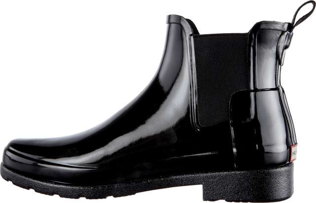 Kalosze Hunter  <br/><small>WOMEN'S ORIGINAL REFINED CHELSEA GLOSS BLACK </small>  WFS1017RGL