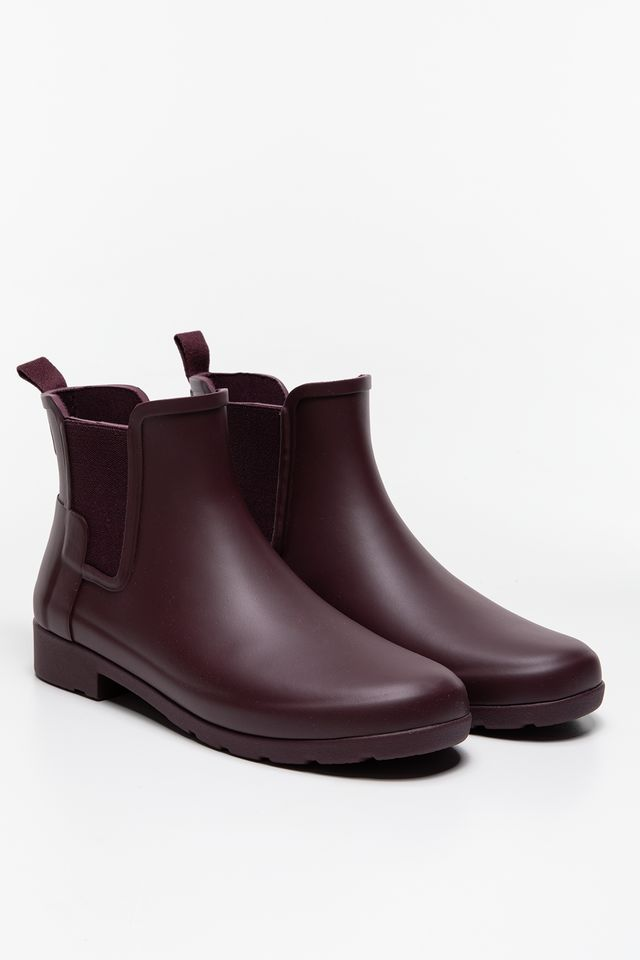 "Kalosze Hunter  <br/><small>WOMEN""S ORIGINAL REFINED CHELSEA OXBLOOD </small>  WFS1017RMA"