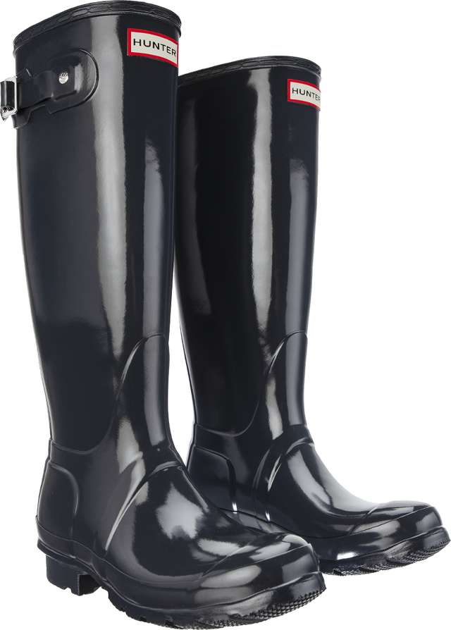 Hunter WOMEN'S ORIGINAL TALL GLOSS DARK SLATE WFT1000RGL