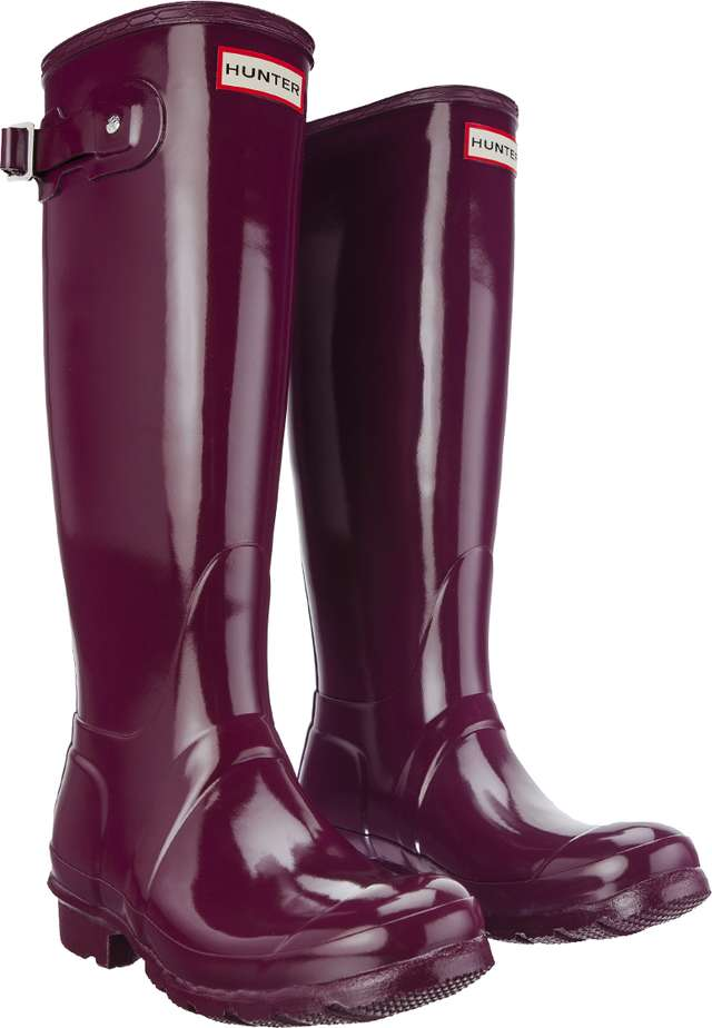 Hunter WOMEN'S ORIGINAL TALL GLOSS VIOLET WFT1000RGL