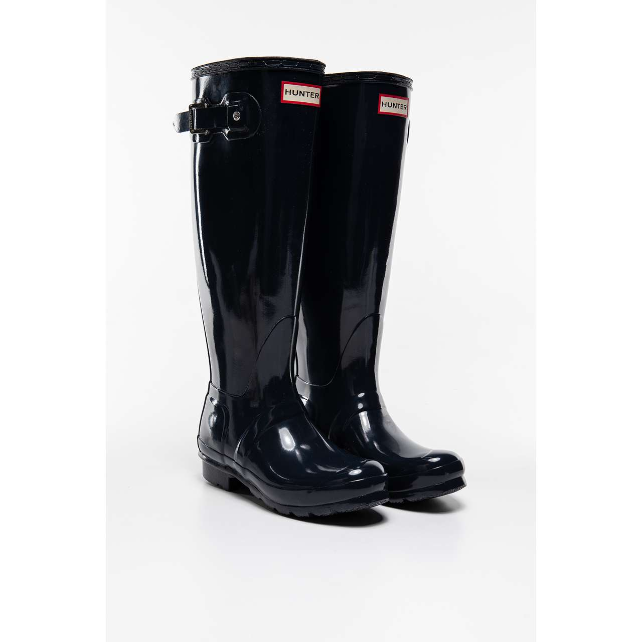 Kalosze Hunter  <br/><small>WOMEN'S ORIGINAL TALL GLOSS NAVY </small>  WFT1000RGL