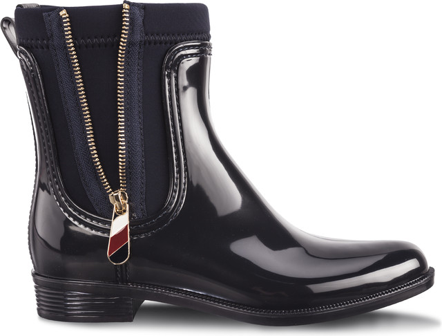 Tommy Hilfiger MATERIAL MIX RAIN BOOTS 403 MIDNIGHT FW0FW03562-403