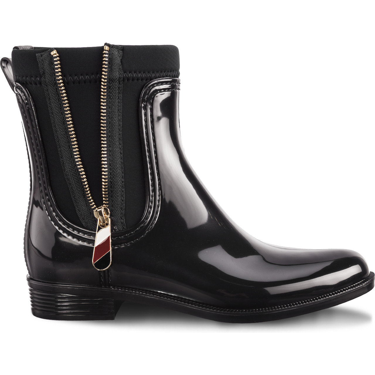 Kalosze Tommy Hilfiger  <br/><small>MATERIAL MIX RAIN BOOTS 990 BLACK </small>  FW0FW03562-990