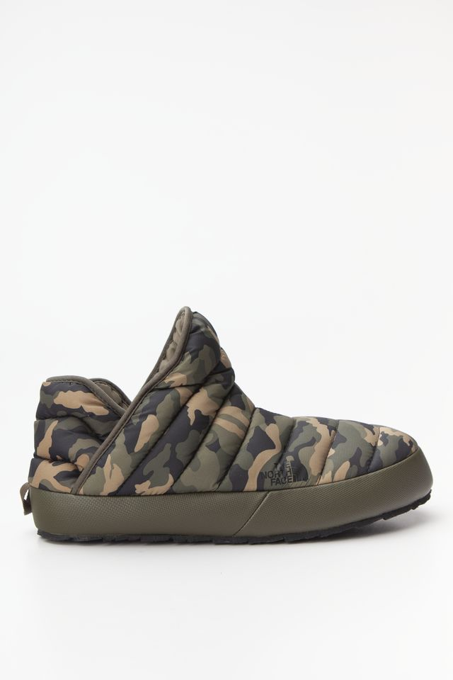 The North Face THERMOBALL TRACTION BOOTIE NEW TAUPE GREEN/BURNT OLIVE GREEN WOODLAND CAMO PRINT T93MKHGX1