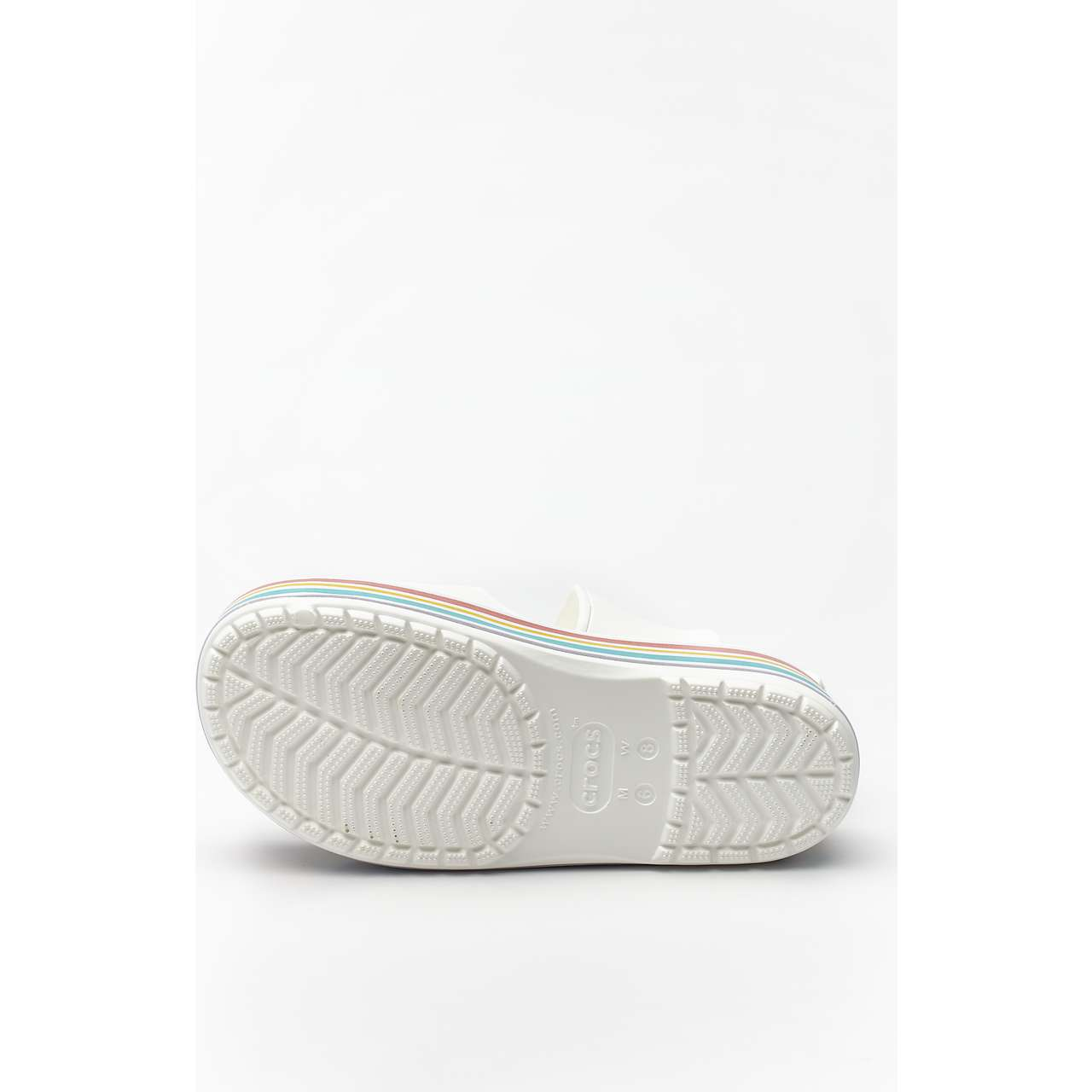 Klapki Crocs  <br/><small>CB PLATFORM BLD COLOR SLIDE 100 WHITE </small>  205693-100