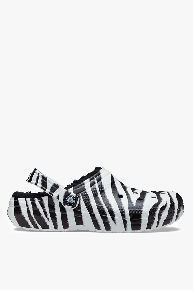 BLACK/ZEBRA PRINT CLASSIC LINED ANIMAL PRINT CLOG 206559