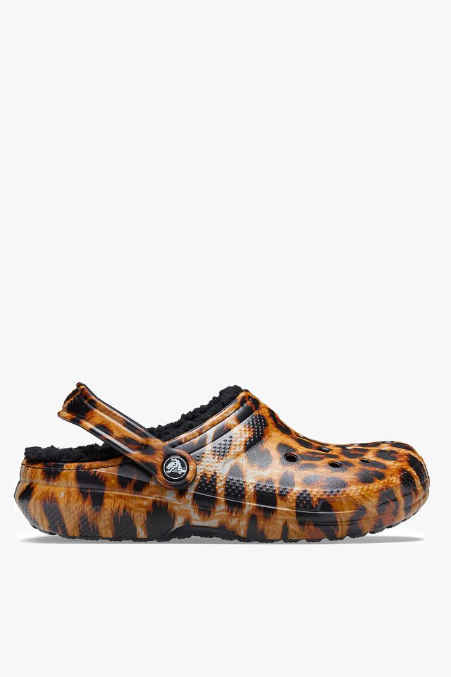 LEOPARD/BLACK CLASSIC LINED ANIMAL PRINT CLOG 206559