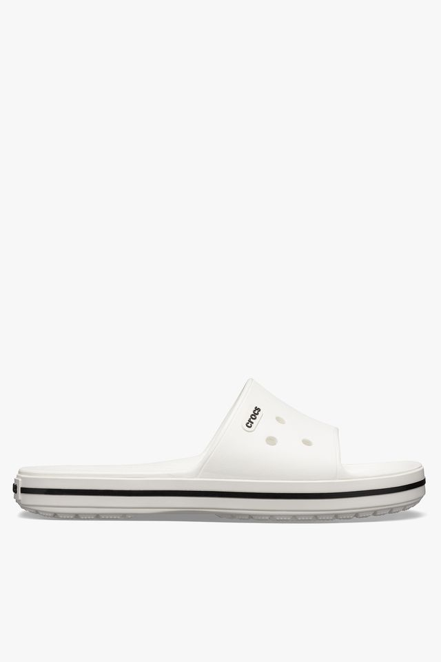 WHITE/BLACK CROCBAND III SLIDE 205733