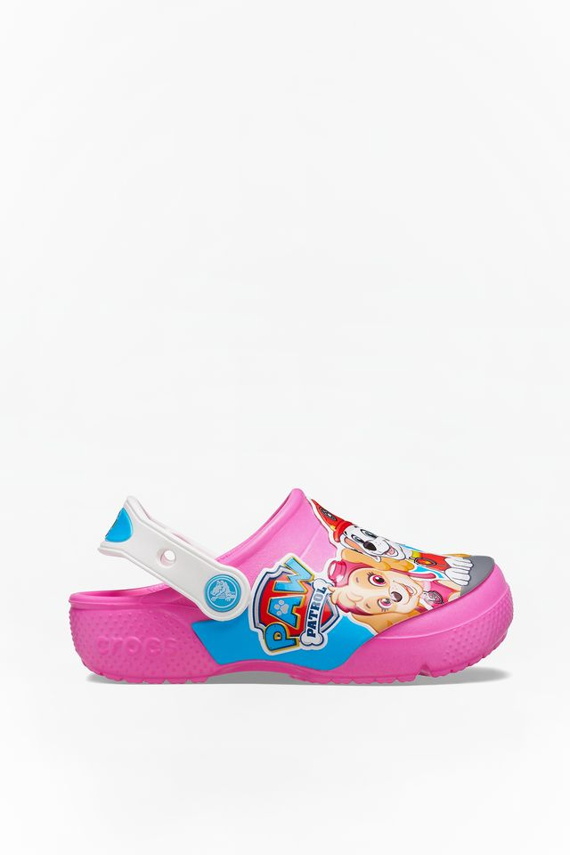 ELECTRIC PINK/WHITE FUN LAB PAW PATROL CLOG KIDS 6QQ