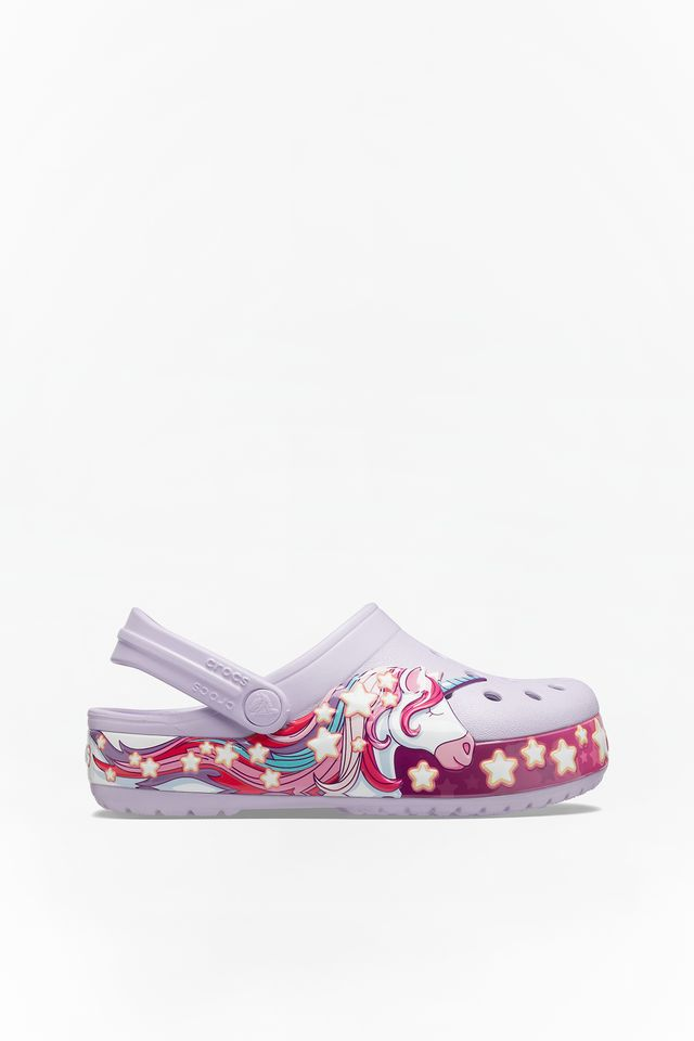 LAVENDER FUN LAB UNICORN BAND CLOG KIDS 206270