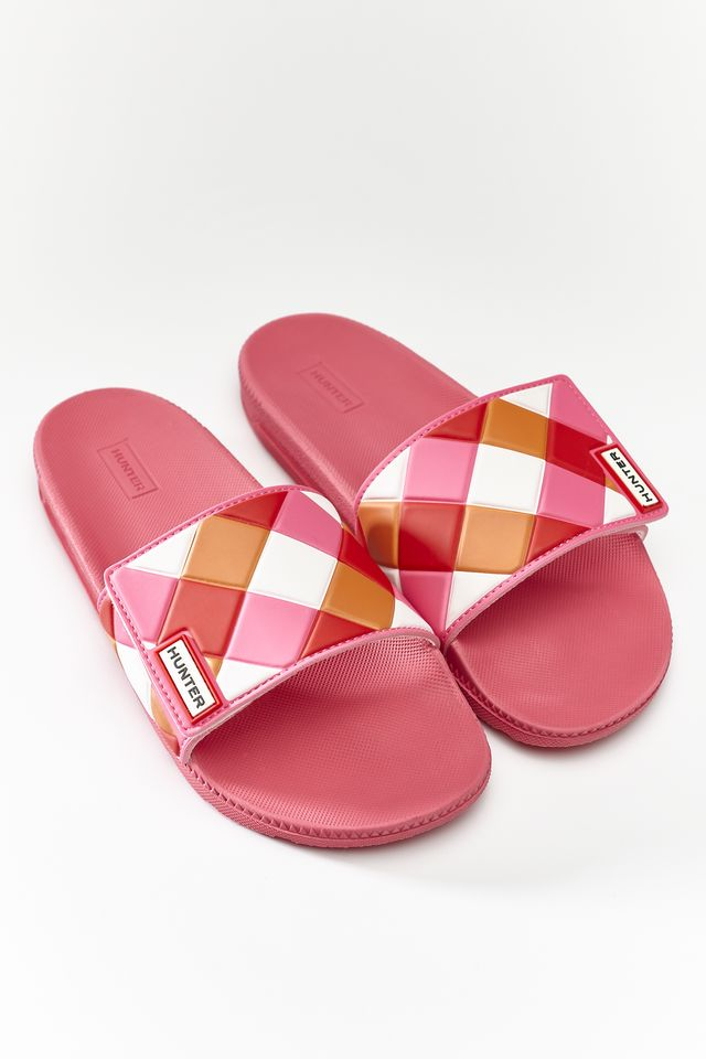 Klapki Hunter  <br/><small>WOMENS ORIGINAL ADJUSTABLE SLIDE WEAVE ARCADE PINK </small>  WFD4029EVA