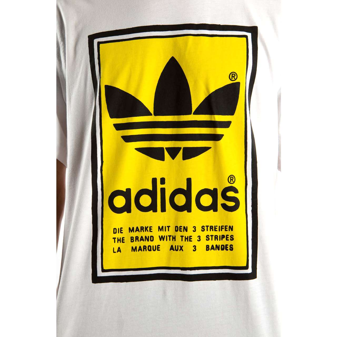 Koszulka adidas  <br/><small>FILLED LABEL TEE 937 WHITE/YELLOW </small>  ED6937