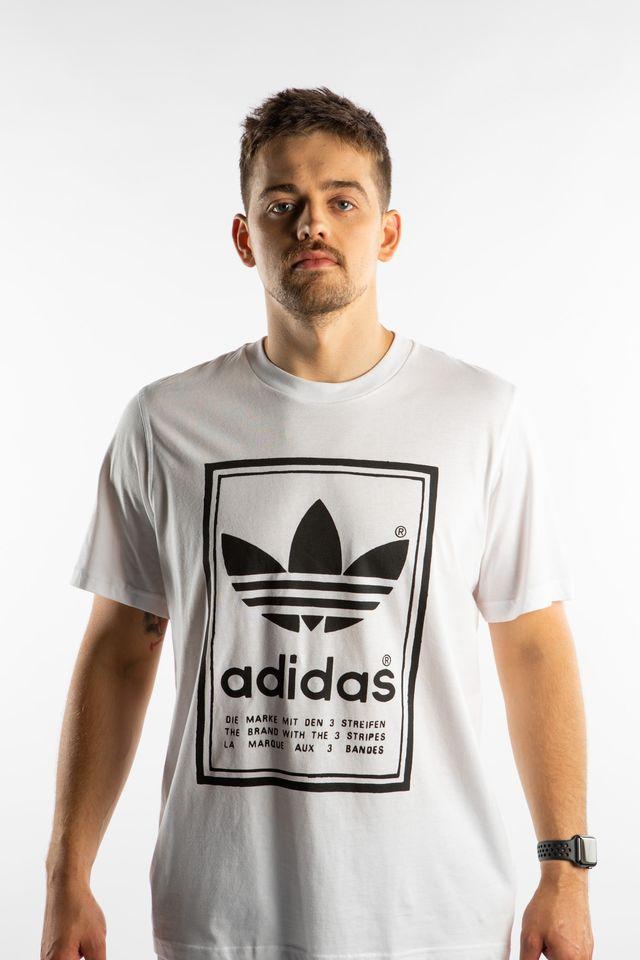 adidas VINTAGE TEE 916 WHITE/BLACK ED6916