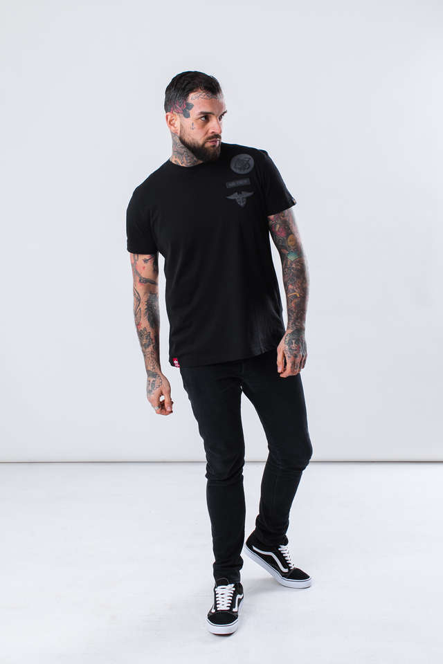 Koszulka Alpha Industries  <br/><small>AIR CREW T 03 BLACK </small>  196519-03