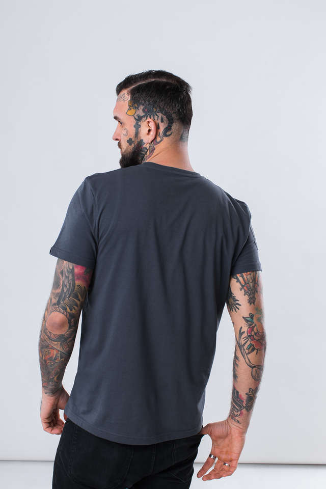 Koszulka Alpha Industries  <br/><small>AIR CREW T 136 GREY BLACK </small>  196519-136