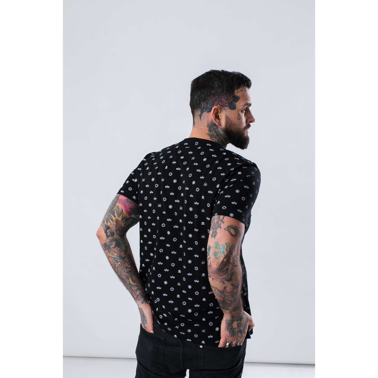 Koszulka Alpha Industries  <br/><small>ALLOVER T 03 BLACK </small>  196502-03