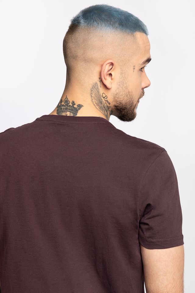 Koszulka Alpha Industries  <br/><small>ALPHA INLAY T 21 DEEP MAROON </small>  186505-21