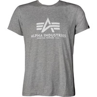 Alpha Industries Basic T-Shirt 03 230 Grey Heather/White 100501-230