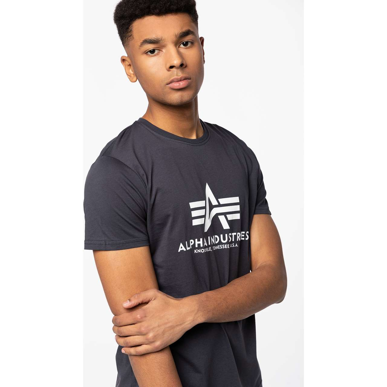Koszulka Alpha Industries  <br/><small>BASIC T-SHIRT 02 NAVY </small>  100501-02