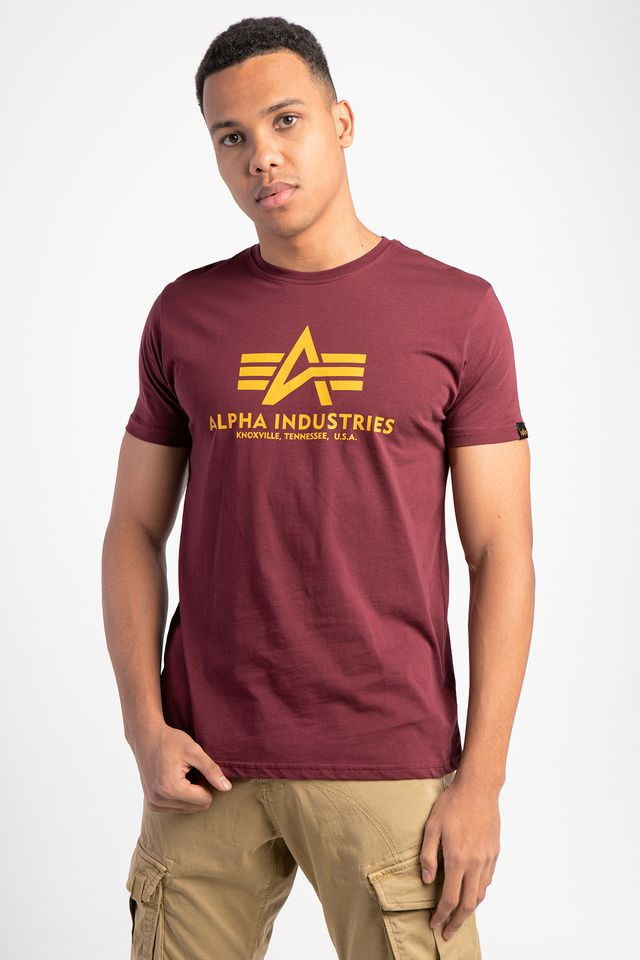 Alpha Industries BASIC T-SHIRT 184 BURGUNDY 100501-184