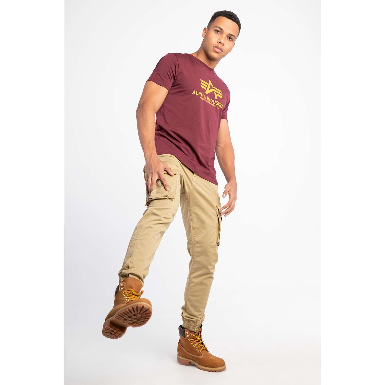 Koszulka Alpha Industries  <br/><small>BASIC T-SHIRT 184 BURGUNDY </small>  100501-184