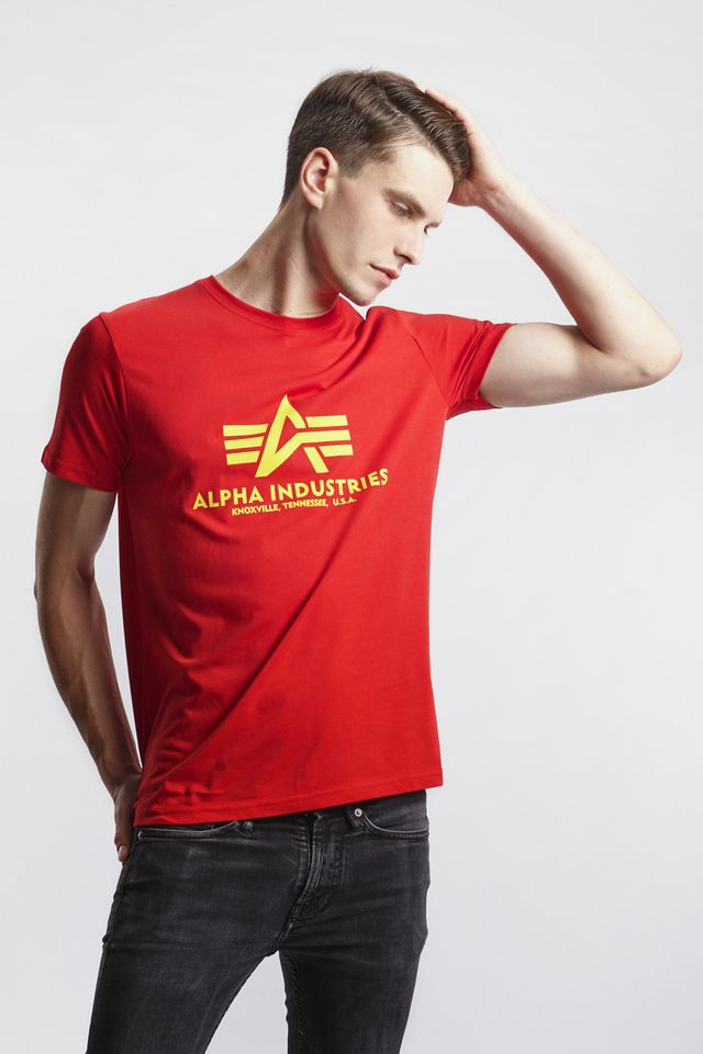 Alpha Industries BASIC T-SHIRT 328 SPEED RED 100501-328