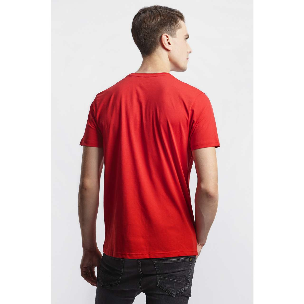Koszulka Alpha Industries  <br/><small>BASIC T-SHIRT 328 SPEED RED </small>  100501-328