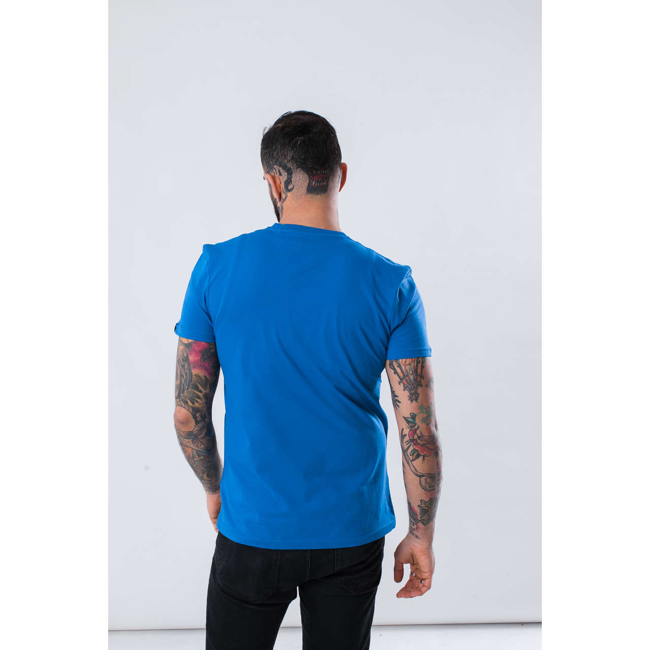 Koszulka Alpha Industries  <br/><small>BASIC T-SHIRT 351 PACIFIC BLUE </small>  100501-351