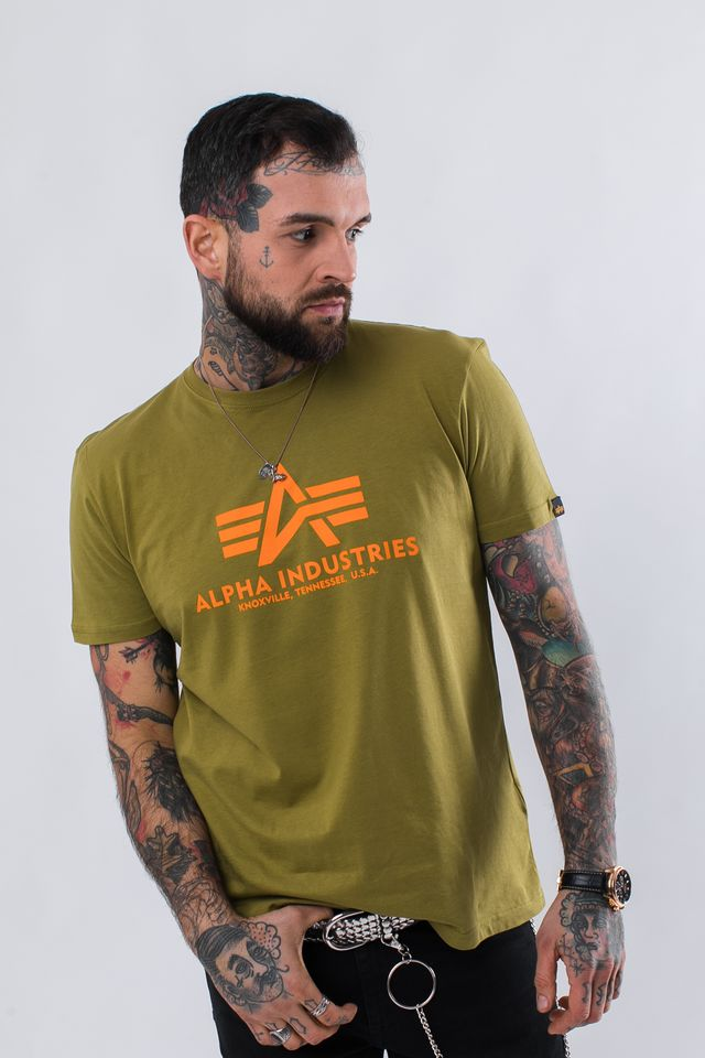 Koszulka Alpha Industries  <br/><small>BASIC T 440 KHAKI GREEN </small>  100501-440