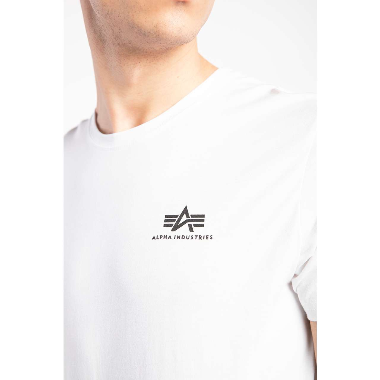 Koszulka Alpha Industries  <br/><small>BASIC T SMALL LOGO 09 WHITE </small>  188505-09