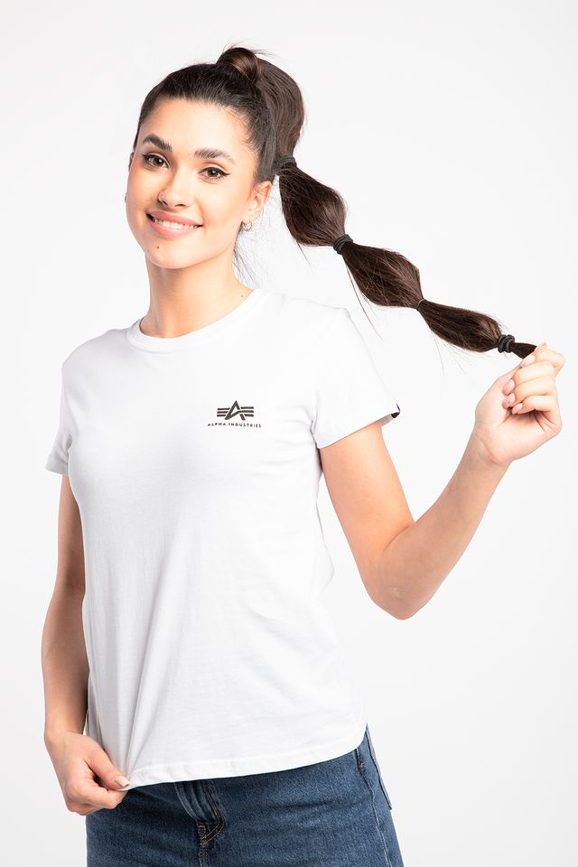 Alpha Industries BASIC T SMALL LOGO WMN 09 WHITE 196054-09
