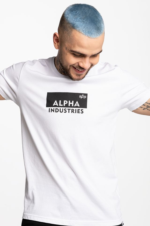 Alpha Industries BOX LOGO T 09 WHITE 198505-09