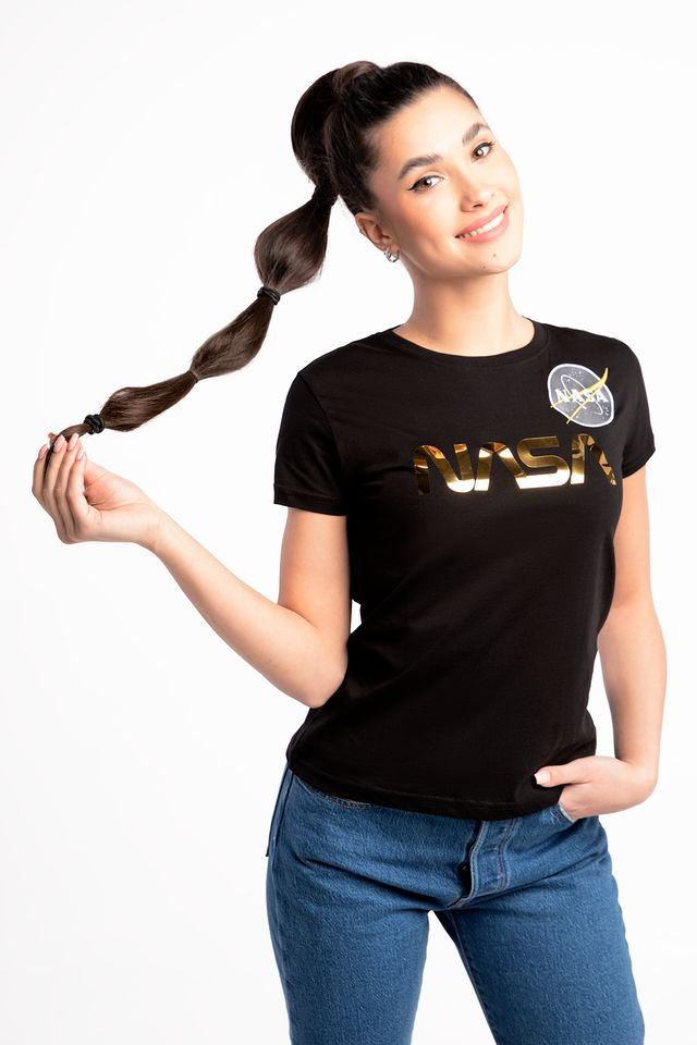BLACK/GOLD NASA PM T Wmn 365