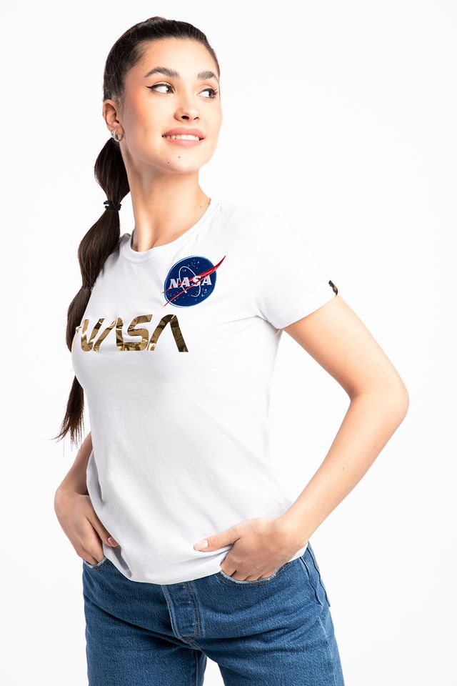 WHITE/GOLD NASA PM T Wmn 198053-438