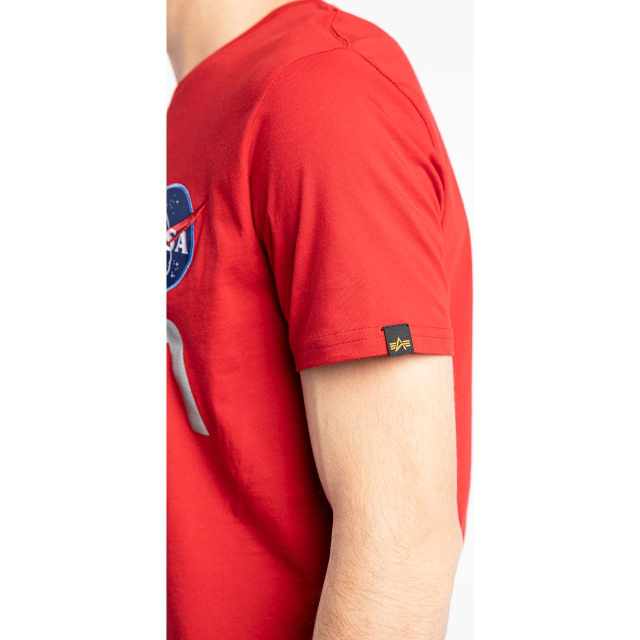 Koszulka Alpha Industries  <br/><small>NASA REFLECTIVE T 328 SPEED RED </small>  178501-328