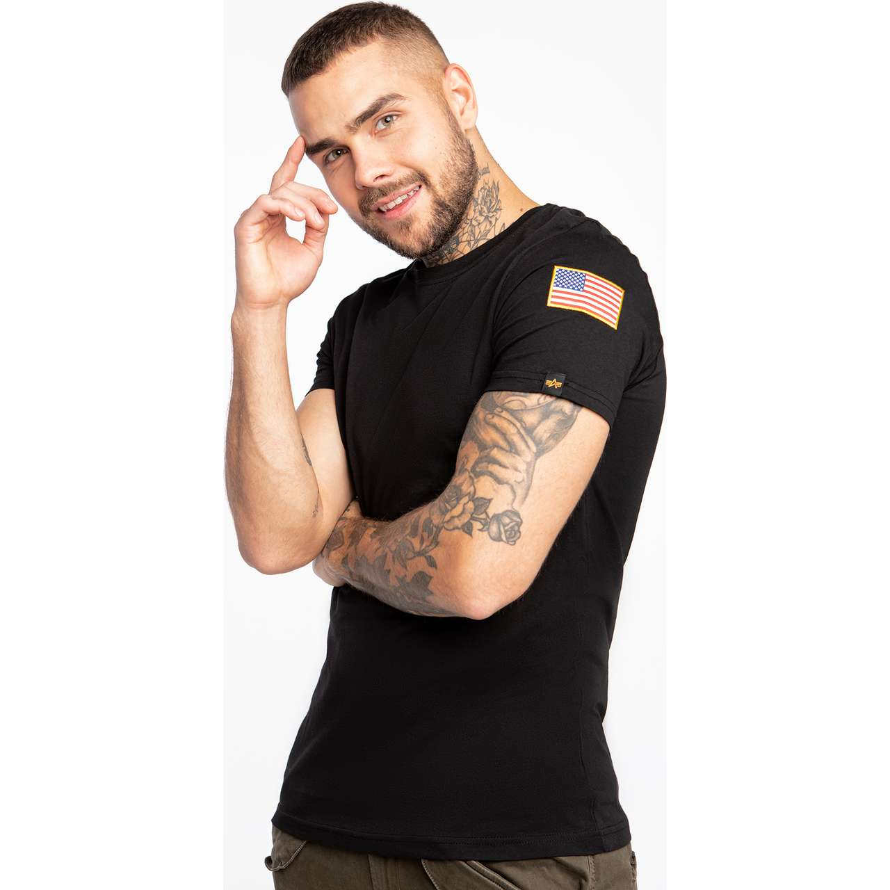 Koszulka Alpha Industries  <br/><small>NASA T-SHIRT 03 BLACK </small>  176506-03