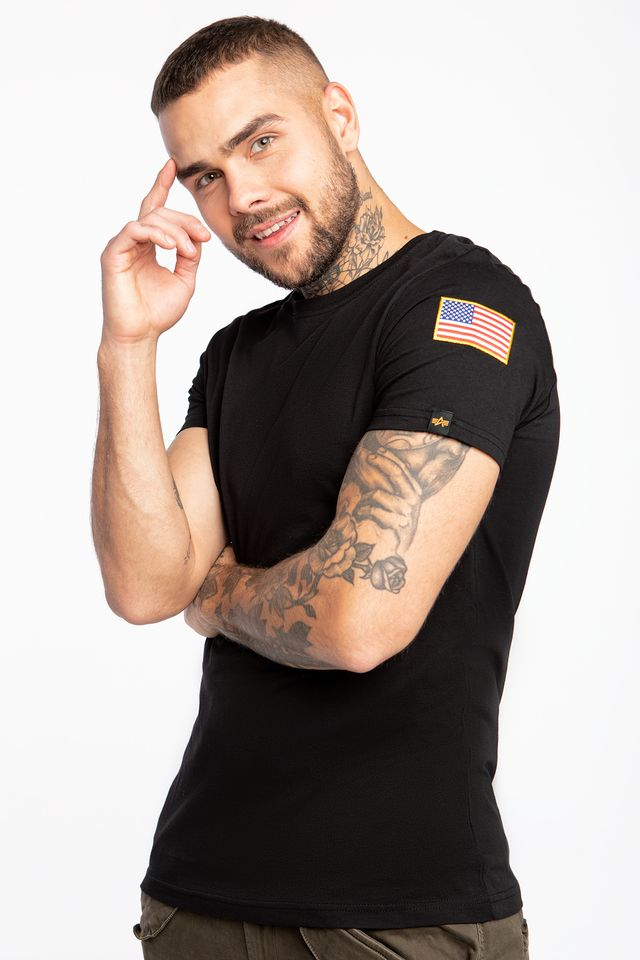 Alpha Industries NASA T-SHIRT 03 BLACK 176506-03