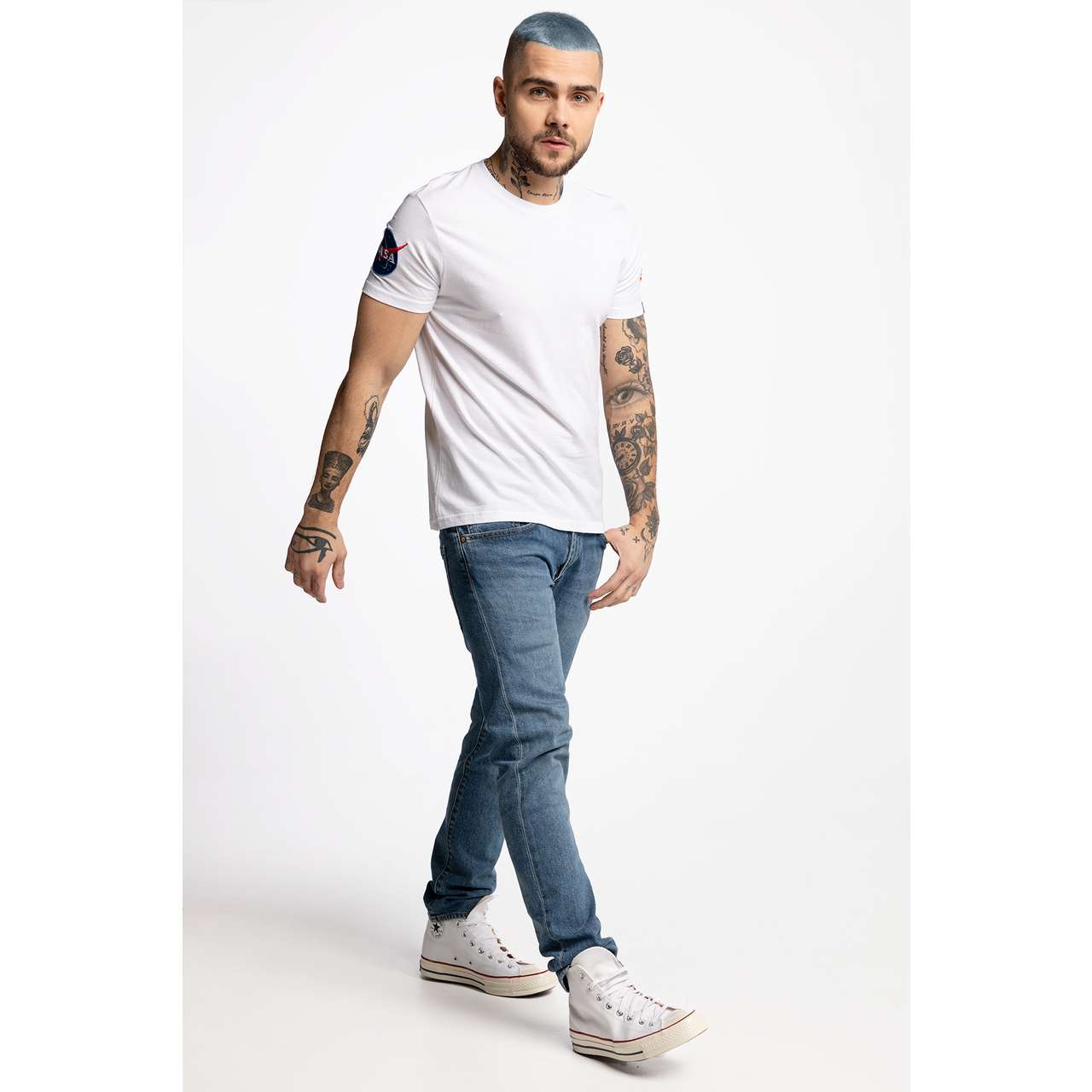 Koszulka Alpha Industries  <br/><small>NASA T 09 WHITE </small>  176506-09