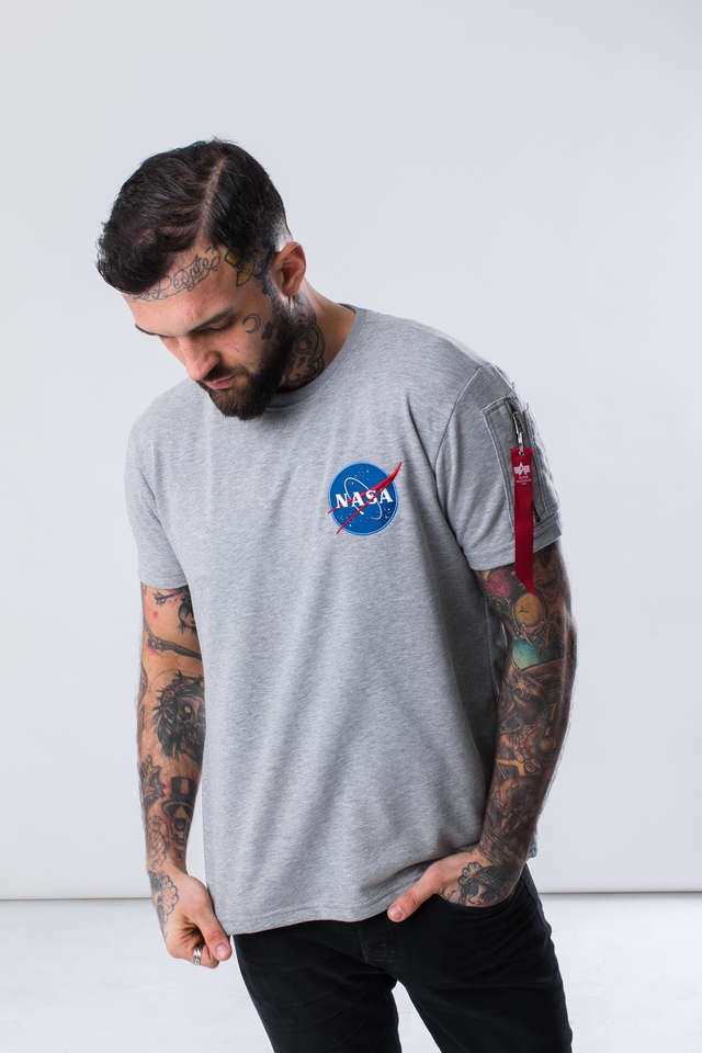 Alpha Industries NASA HEAVY T 17 GREY HEATHER 188502-17