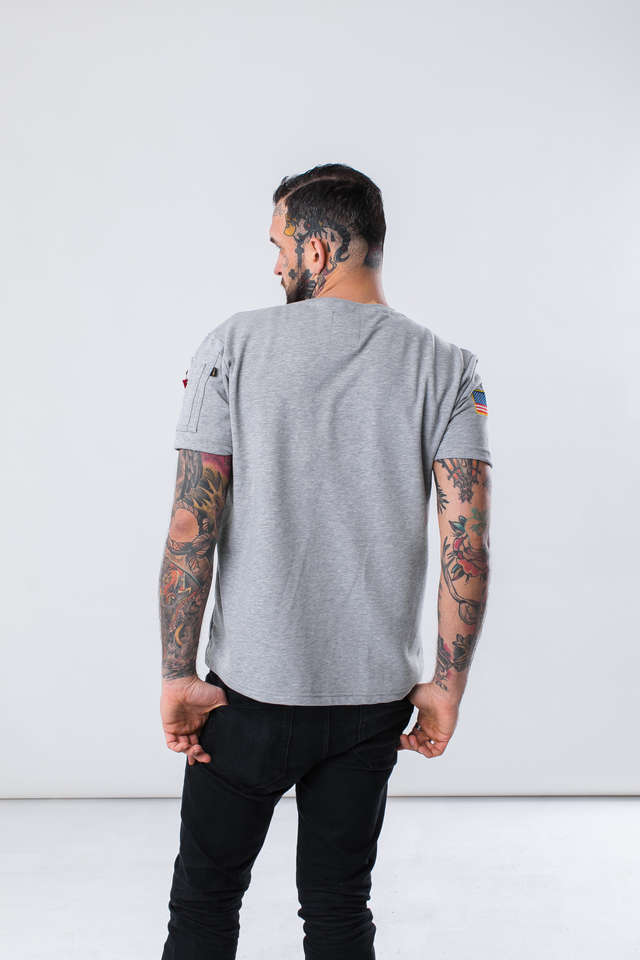 Koszulka Alpha Industries  <br/><small>NASA HEAVY T 17 GREY HEATHER </small>  188502-17